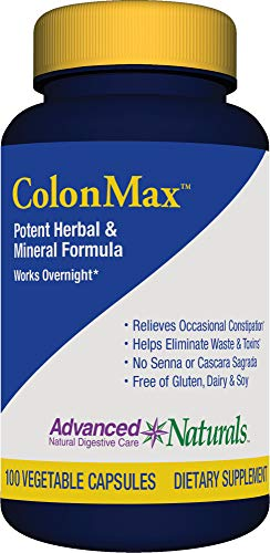 Advanced Naturals Colonmax Caps, 100 Count, Blue and White (16900)