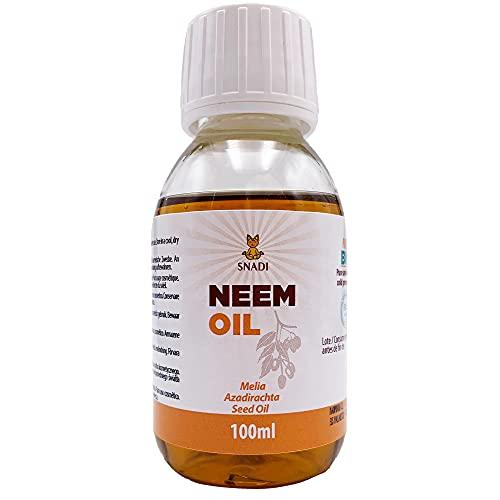 100 ml - Aceite de Neem BIO + Prensado en Frío. Aceite Neem, antienvejecimiento. Aceite corporal hidratante y aceite cabello todo tipo. Puro y Natural.
