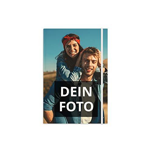 PhotoFancy® – Notizbuch mit Foto selbst gestalten – Tagebuch personalisieren und bedrucken (Format: DIN A5)