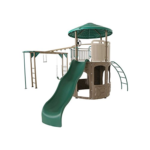 Lifetime 90630 Products Adventure Tower Deluxe Playset, Green