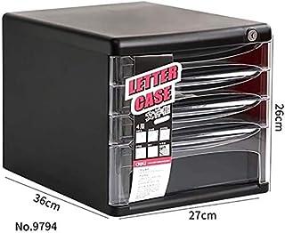 Classeurs Tiroir Bureau Plastique verrouillables Bureau fichier Dossier Famille Cabinet Armoire de Rangement Boîte de Rang...