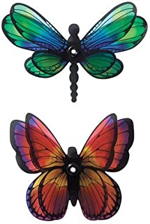 Dragonfly and Butterfly Layon Cake Topper - 12 Count
