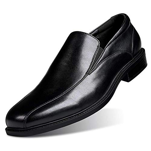 GM GOLAIMAN Men's Formal Leather Dress Shoes Slip-On Loafer Black 11