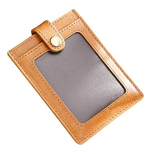Zhhlinyuan Petit Minimaliste Bloquant la RFID Portefeuilles de Poche Porte-Cartes Slim Conception Simple pour Hommes Femmes