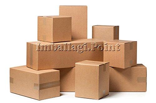 Paquete de 30 cajas de cartón para embalaje, envío o mudanza. Dimensiones: 25 x 15 x 10 cm.