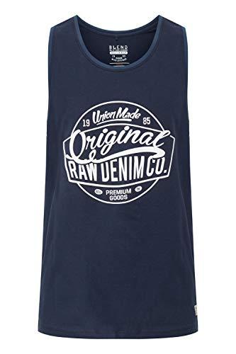 BLEND Walex - Camiseta sin Mangas Hombre, tamaño:L, Color:Navy (70230)