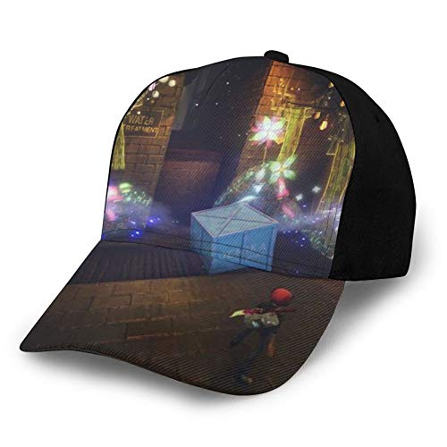 Concrete Genie Video Game Baseball Cap Adjustable Sports Hats for Women Men Outdoor Exercise Running Cycling Hiking Golf Black