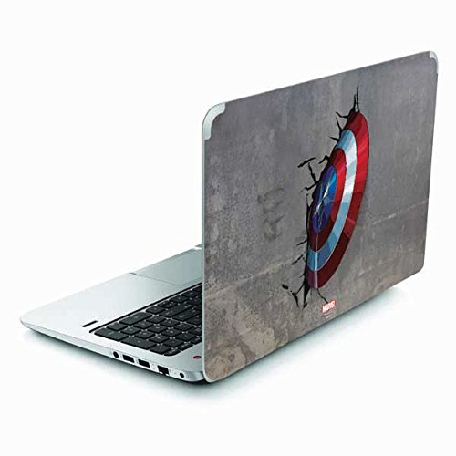 Skinit Decal Laptop Skin Compatible with Envy TouchSmart 15.6in - Officially Licensed Marvel/Disney Captain America Vibranium Shield Design