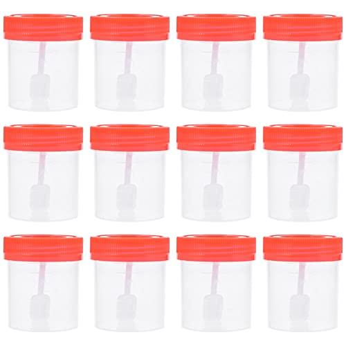 Scicalife Vasos de Muestra de 50 Unidades con Rosca en Las Tapas Envases de Muestra de Orina No Estériles 40Ml (Color Aleatorio)