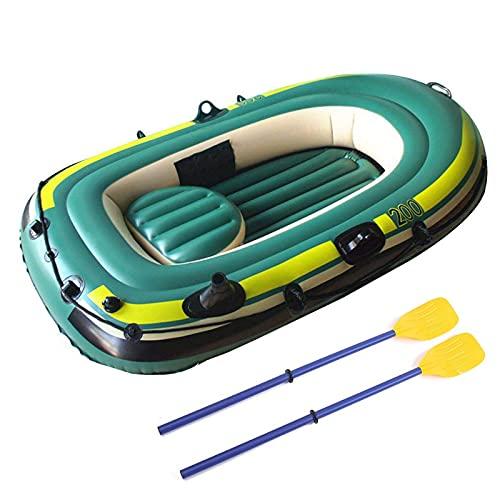 Barca Hinchable para Adultos Bote Inflable, PVC Barca Inflable, para Cazar Pescar o Jugar en los Ríos o los Lagos-200x120cm