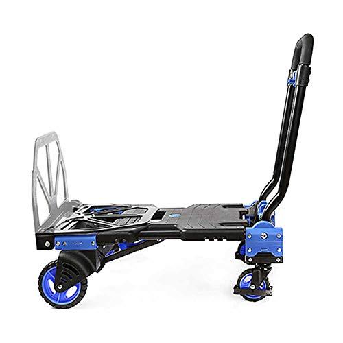 MNSSRN Folding Flach Carts, Trolleys, stabil und langlebig, Einkaufswagen, Klein Carts, tragbar und bequem für große Lasten, einstellbare Wagen für den Hausgebrauch