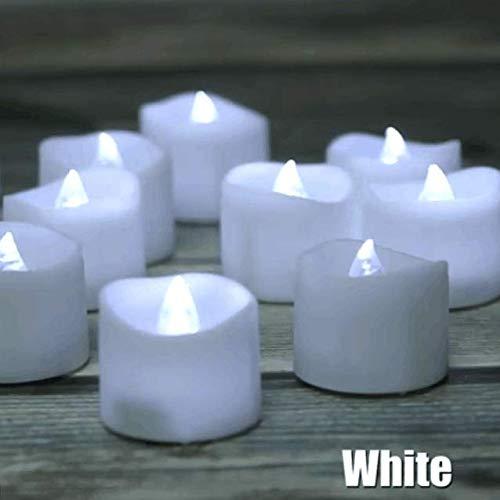 LED Kerzen 12 Stück Teelichter mit Timer 6 Stunden ein 18 Stunden aus flackernde flammenlose Kerzen mit 100 Rosenblättern, kaltweiß