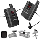 SYNCO WMic-T1 Wireless Lavalier Microphone System for Camera and Smartphone, 16 Channel with One Transmitter and One Receiver, Max 50m Transmission Range