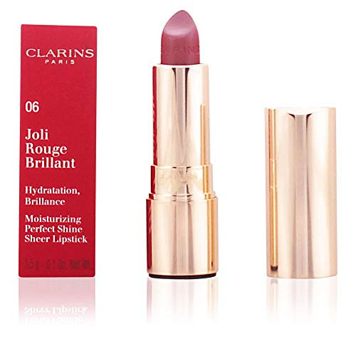 Clarins Joli Rouge Brillant Lippenstift, 06 Fig, 5 g