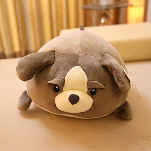 mangegeg Hund hält Kissen Plüschtier Puppe Huxy Kinder Puppe Lappen sitzen auf Hund Geburtstagsgeschenk 35 x 40 cm Baxter