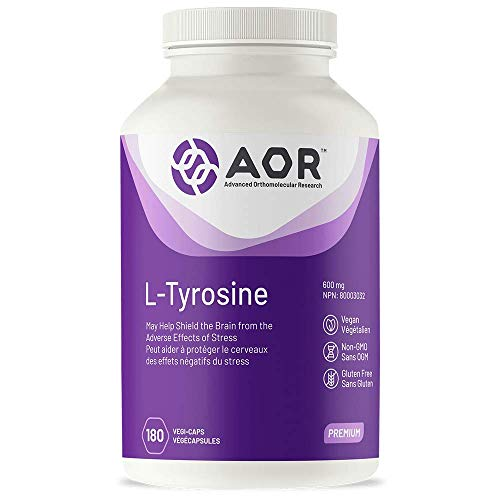 AOR - L-Tyrosine 180 Capsules - May Help Shield the Brain from the Adverse Effects of Stress