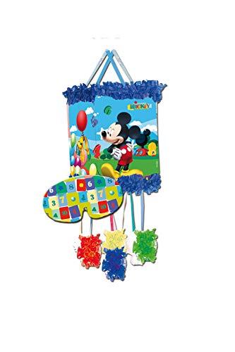 ALMACENESADAN 0836, Piñata Viñeta Disney Mickey Mouse, Multicolor, para Fiestas y cumpleaños, Dimensiones: 20x20x30 cms
