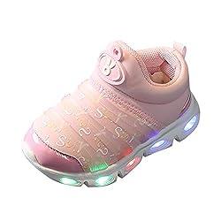 Pink Mesh LED Light Luminous Sport Shoe
