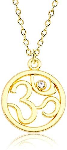 Ahuyongqing Co.,ltd Collar, Collar, Collar de Yoga Budista hindú, Mujeres, Simple, India, Deporte al Aire Libre, Colgantes, Collares, joyería inspiradora