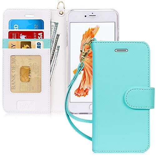 FYY Cover iPhone 6S Plus,Cover iPhone 6 Plus,Flip Custodia Portafoglio Libro Pelle PU con Funzione Supporto Chiusura Magnetic per iPhone 6 Plus/6S Plus-Peppermint