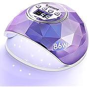 Skymore 86W Nageltrockner Lampe, UV LED Lampe für Nägel, Professionell LED Nagellampe, mit 4 Timer, LCD Display,für Maniküre/Pediküre Nail Art zu Hause und Salon(Lila)