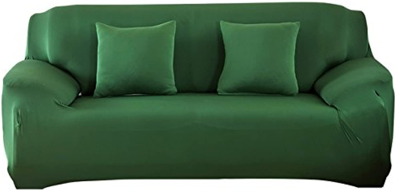 PlenTree Puro colore allungamento della sedia non slitta  sse Sofa Cover High Elastic Cushion Sofa Case Antipolvere Sofa Protection Cover: Dark Green, 1 sede