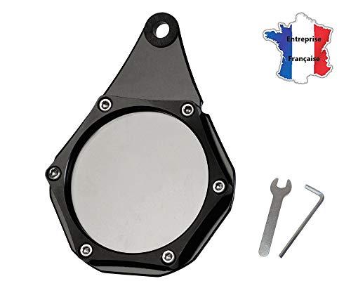 Ugozen Porte Vignette Assurance Moto, Support De Vignette Crit air ou Assurance Etanche Noir pour Moto/Quad/Scooter