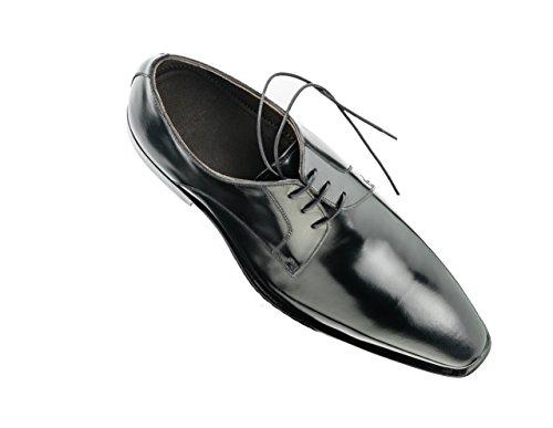 Prime Shoes Glasgow 2 Schwarz Box Calf Black Rahmengenäht edler Schnürschuh feinstes Kalbsleder D 41 5 / UK 7 ½