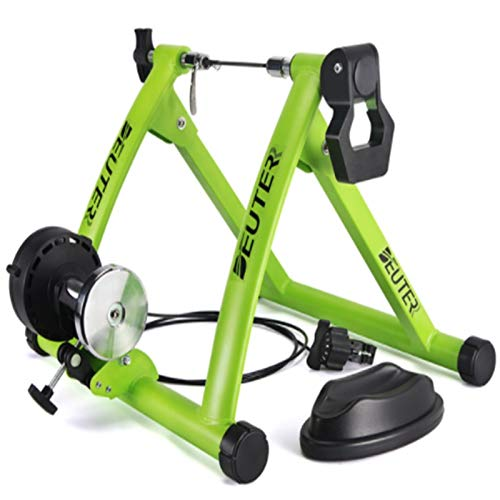 TGhosts Bike Trainer, Indoor Cycling Bike Trainer Roller MTB Road Bicycle Cycling Fitness Workout Tool (Color : Green)