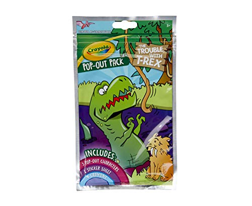 Crayola Dinosaur Coloring Activity, Pop Out Characters & Stickers, Party Favor Gift, Multi (04-0681)