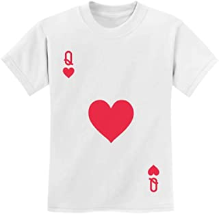 Tstars - Queen of Hearts Playing Card Easy Halloween Costume Youth Kids T-Shirt
