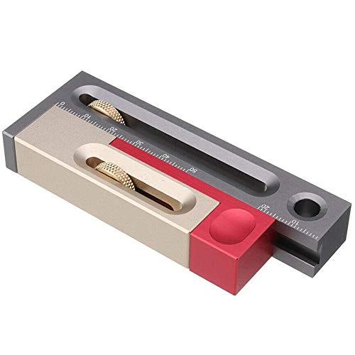 Tafelcirkelzaag Slot Phaser Houtbewerking Tafels Van Blokken Tafels Zaag Gleuf Naad Afstelgereedschap Meetinstrumenten - 100 X 38 X15.5Mm,Metallic