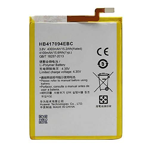 Ellenne Batería compatible con Huawei Ascend Mate 7 HB417094EBC de alta capacidad 4100 mAh con kit de montaje incluido