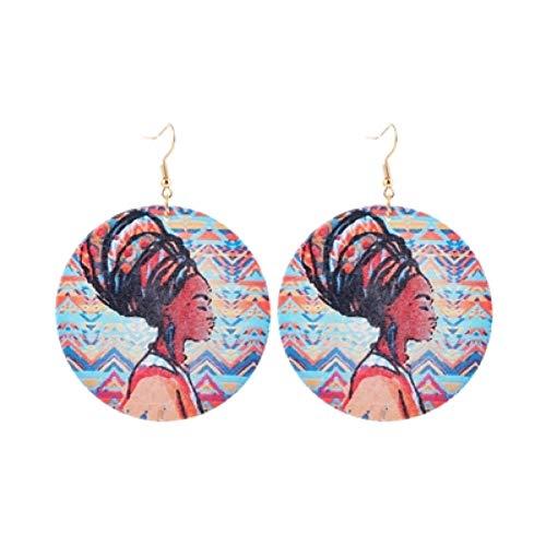 ERQINGH Charm-Ohrringe Beliebte Gemalt Doppelseitige Charakter Mann Anhänger Ohrringe Für Mode Frauen Schmuck Accessoires Geschenke