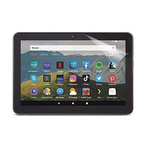 NuPro Protector de pantalla transparente para tablet Amazon Fire HD 8 (10.ª generación, modelo de 2020), 2 unidades