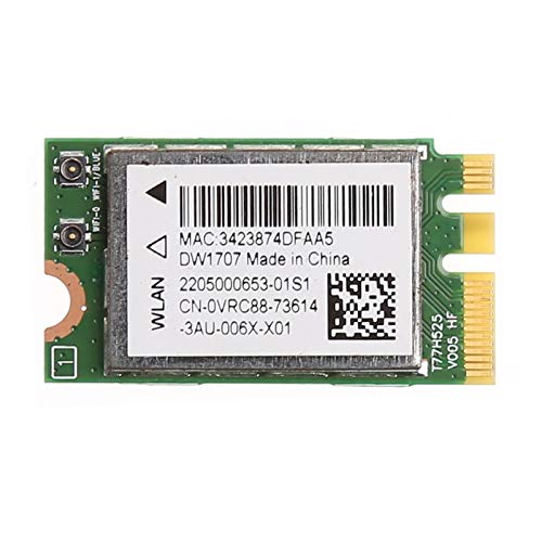 300M Wireless Bluetooth V4.0 NGFF WIFI WLAN Card For Dell DW1707 VRC88 Qualcomm Atheros QCNFA335