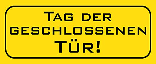FS Tag der gesloten deur metalen bord bordje gewelfd Metal Sign 10 x 27 cm