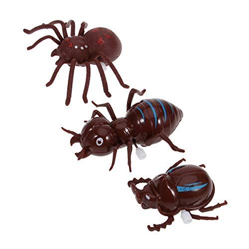 Amosfun 3 Teile/Satz Halloween Heikles Spielzeug Kunststoff Simulation Spinne Ameise Käfer Spielzeug Set Insekt Streich Scherz Lustige Horror Decor (Zufällige Farbe) für Halloween Party Supplies