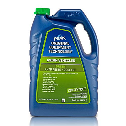 PEAK OET Extended Life Green Concentrate Antifreeze/Coolant for Asian Vehicles, 1 Gal.