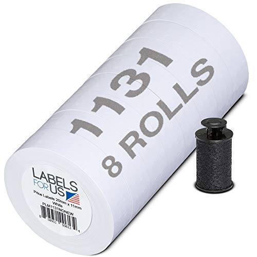 Labels for Us - Monarch 1131 Compatible Labels - White - 20,000 Labels - Pack with 8 rolls