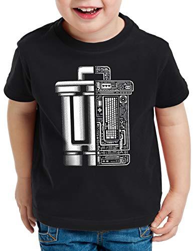 A.N.T. Papelera de Reciclaje Trash Camiseta para Niños T-Shirt informática Programa, Talla:128