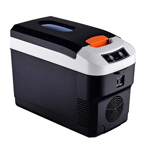 CWBB Mini Nevera 10 litros, Frigoríficos Mini Portátil Refrigerador Uso del Refrigerador para Acampar Al Aire Libre Refrigerador para El Refrigerador para La Piel Frigorífico 12V 24V,Negro