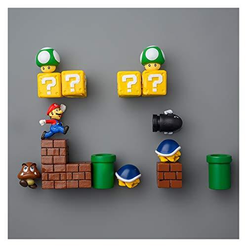 Changskj Pegatinas de Pared 3D Super Mushroom Bros Iman De Frigorífico De Frigorífico Imán Mensaje Pegatinas Adulto Hombre Muchacho Niños Niños (Color : M 18pieces)