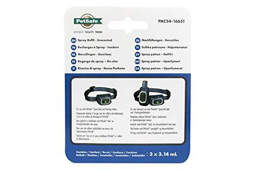 PetSafe Nachfüllpatrone geruchslos, Ersatz Spray Patrone für PetSafe Spray Anti Bell Halsband und Spray Trainingshalsband, 3er Pack