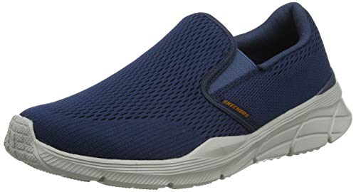 Skechers Equalizer 4.0, Zapatillas sin Cordones Hombre, Azul (Navy Engineered Mesh/Orange Trim Nvor), 43 EU