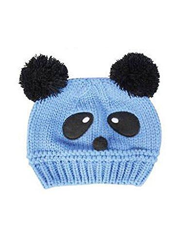 Bestgift Kids zacht schattig heerlijk gebreide wollen pet Panda hoed