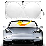 Auto safety The Original Windshield Sunshade Heat Shield for Tesla Model 3 Model Y 2018 2019 2020 Foldable Sun Visor Protector Sun Shade Custom Fit