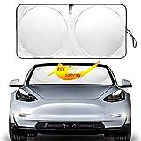 Auto safety The Original Windshield Sunshade Heat Shield for Tesla Model 3 2018 2019 2020 Foldable Sun Visor Protector Sun Shade Custom Fit