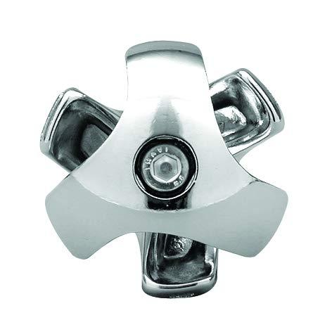 GIUNTO A 3 VIE PER TUBO TONDO DIAMETRO 32 mm AGGANCIO INCROCIO TUBI ANGOLI PER LA CREAZIONE DI STRUTTURE IN FERRO (CROMATO)