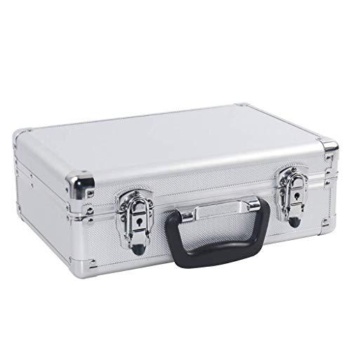 XBSXP Flight Case con Espuma Acolchada, Caja de Herramientas de Almacenamiento con Cerradura, Caja de Transporte de Aluminio portátil Universal para Transporte de Viaje Craftsman